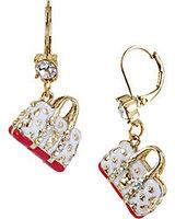 $15 Free shipping 2014 new fashion The new white handbag ear clip  gold earrings earrings for women gifts