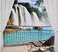 Mural tv background wall wallpaper libang 3d landscape wallpaper 08 waterfall