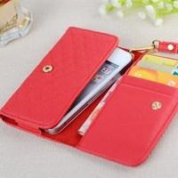 Leather Wallet Purse Smart Phone Case for iphone 5 5S 5C 7 Colors Newest Ladies Flip Purse Style Phone Case