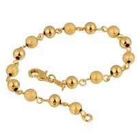 Classic 24K Yellow Gold Plated Women's Gold Ball Chain Bracelet