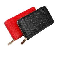 2014 new embossed leather wallet women Ms. Long Wallet single zipper purse A528