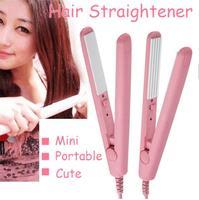 New Brand 2014 Mini hair straightener Ceramic Electronic chapinha Tourmaline Pulls corrugated Iron styling tools Free Shipping