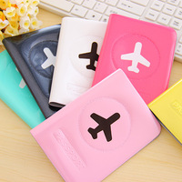 2014 plastic PVC passport holder travel documents folders closing package to protect card holder p060601