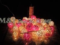 3M 20pcs Takraw Balls/Set ball light pink string lamp Free shipping