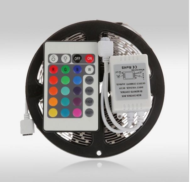 5m 3528 waterproof LED Strip RGB IP65 led stripe Light 12V 60LEDs/M indoor lighting tiras led for christmas decoration CE RoHS(China (Mainland))