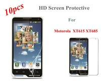 Freeshipping High Quality 10Pcs /Lot HD Body Front Screen Protector Clear Screen Protective For Motorola XT615 XT685