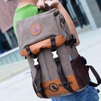 new 2014 men canvas tactical backpack men's backpacks duffel bag rucksack camping equipment waterproof bag laptop bags man
