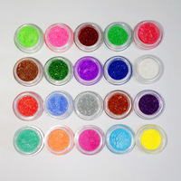 20 Colors Powder Pigment Glitter Mineral Spangle Eyeshadow Makeup 40pcs