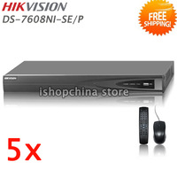 5sets HIKVISION DS-7608NI-SE/P 8CH Economic PoE NVR w 4 Independent PoE Interfaces Up to 5MP Network Video Recorder, by DHL/EMS