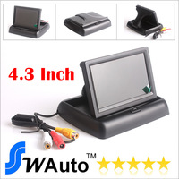 """4.3"""" Foldable TFT Color LCD Car Reverse Rearview 16:9 4.3 inch car Monitor for Rear view Camera DVD VCD camera 12V"""
