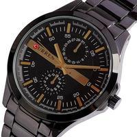 2013 Hot Noble CURREN Watches Men Stainless Steel Watch Brand Quartz Analog Calendar Clock Waterproof Free Shipping