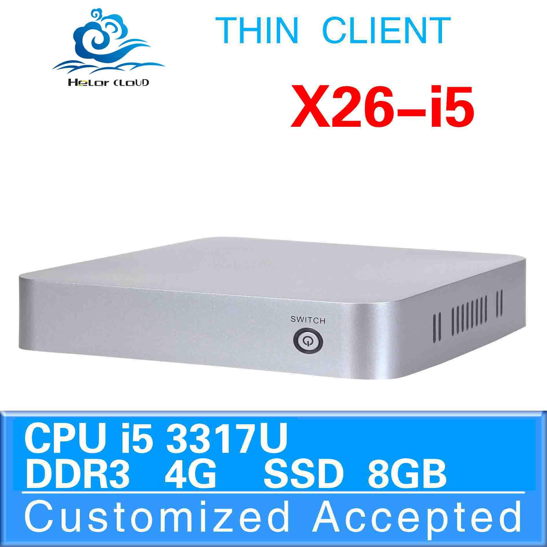 Best quality!X26-i5,bareone Media Center PC,i5 mini pc,( intel 3317u core dual 1.8GHz 4*USB2.0 1*HDMI 1.3 1*VGA 2*MIC 2*SPK)(China (Mainland))