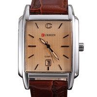 Curren watches men quartz Japan movement 3ATM business military watch genuine leather strap watches relogio hours calendar clock