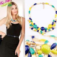 2014 New Fashion Vintage Gem JC Desigh Brand Bib Choker Collar Necklace For Women Custom Choker Necklace 8642