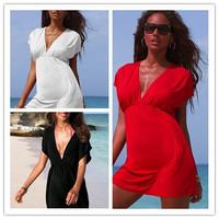 [AMNY-004]2014 New Women Sexy Nylon Swimwear Dress Bikini Cover Up Beach dress+Free Shipping