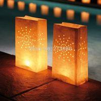 30pcs=3packs X  Sun Firework Pattern Luminaria Paper Lantern Candle Bag Holder For Xmas BBQ Beach Ball Party Free shipping