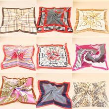 New 2014 Fashion New 50*50cm Imitated Silk Square Scarf Colorful Women Fashion Brand High Quality Satin Scarves Shawl(China (Mainland))
