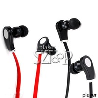 Cheap Stereo In Ear Headphones High Performance Beast Red Earphones for MP3/iPod