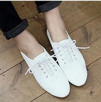 FREE SHIPPING! Fashion Women Spring and summer European and American Style White Shoes Flats For Women! size EU35-39