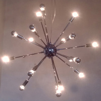 18 Lights Modern Crystal Chandelier 25Watt Modern Home Fixture 6000K Home Lamp- Lamps Included