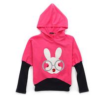 "Girls Sweatshirts Kids Hoodies Children Fall Clothes Size 7-16 Y ""Rabbit"" Cute"