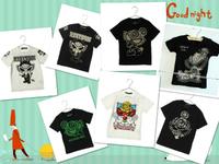 Wholesale summer  children's short sleeve boys girls baby devil female child T-shirt hysteric mini
