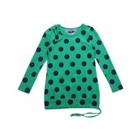 JJLKIDS Girls 2014 Spring New Polka Dot TEE SHIRT Long Sleeve Lengthen girls lengthen t shirt fashion teens clothes wholesale