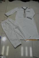 Free Shipping Islamic Dubai Arabia Abaya with the pank for Boy