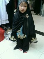 Free Shipping New Model Islamic Dubai Arabia Muslim Abaya For Girl Baby
