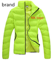 FREE SHIPPING,2014 female sportswear brand women winter jacket coat with logo slim fit design 4 colors