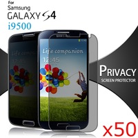 Wholesale Anti-spy Privacy Screen Protector for Samsung Galaxy S4 i9500 Protective Phone Film 50 pcs/lot