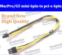 50pcs Wholesale MacPro/G5 mini 6pin to pci-e 6pin video card power cable 6 pin  8800GT /GTS quadro 4000 FX4500 FreeShippment