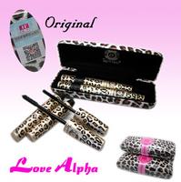 1sets=2pcs,  Leopard Print Mascara Set Waterproof Cosmetics Maquillage Long Lush Eyelash Eyelashes Love Alpha Make up For Eyes