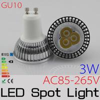 10PCS High Bright 3w LED High Power SpotLight Bulb GU10 AC85-265V Nature White/Warm White lamp Lighting Epistar FREESHIPPING