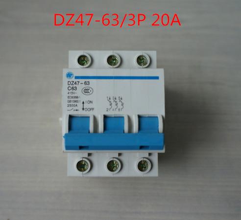 Dz47-63 / 3 P 20A с20 415 В