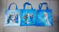 Free shipping frozen drawstring bags Anna Elsa backpacks children school bags shopping bags Waterproof Bag present for kids 098