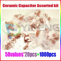 (1pf-100nf) 1000pcs 50value 50V Ceramic Capacitor Assorted kit Assortment Set
