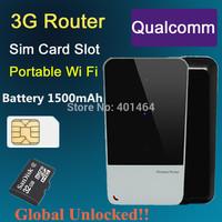 Freeshipping Unlocked!! HSPA Wireless Hotspot 3G 3.75G Mifi/Wifi Router Modem With SIM Card slot WCDMA WIFI 4g Router 2pcs/lot