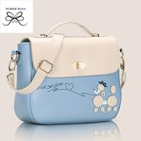 2014 new fashion women messenger bags new fresh  women handbag bolsas femininas candy colour women shoulder bag dog cartoon