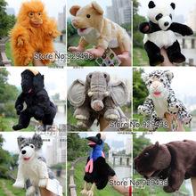 Free shipping Large flat friends animal puppet,Silver back gorilla,Rats,kiwi bird,Macaca ,Sea lions, Turkey  for christmas gift(China (Mainland))