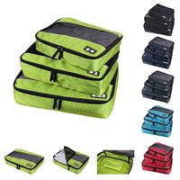 Ecosusi Nylon Packing Cube travel bag System - Durable 3 Piece men's travel bags Weekender Set sport bag