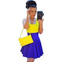 Sexy Low-cut High-waisted Dresses Fluorescent Color Free Shipping 2014 Spring New S,M,L,XL,XXL,XXXL,XXXXL,XXXXXL,XXXXXXL 13922