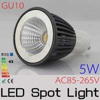 10PCS/LOT GU10 1x5W 5W AC85-265V Epistar COB Non-Diemmabl  led Light Lamp Bulb Downlight Spotlight FREE SHIPPING