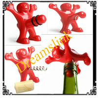 Creative Bar Kitchen wine tool Sex Censorship Happy Man Corkscrew + Bottle Stopper + Bottle Opener