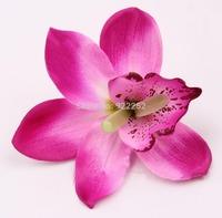 10-11cm Artificial silk butterfly dendrobium orchid flower heads,diy craft arrangements&wedding party decoration&arch&headbands