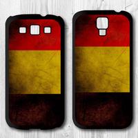 Retro Belgium National Flag Protective Black Hard Cover Case For Samsung Galaxy S4 i9500 S3 i9300 P897