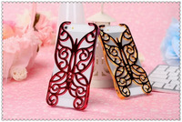 wholesale Unique Design Butterfly Electroplated Hollow Out Hard Case for iphone 4G 5G 50pcs/lot