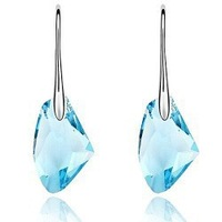 Wholesale white gold plated austrian crystal drop earrings E205