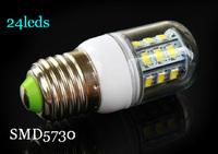 wholesale 220v E27 24leds 5730SMD LED bulb for living room,bedroom and corridor light etc.also offer G9 E14 base