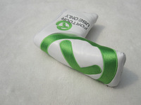 Green T PU golf putter head cover FOR TOUR USE golf clubs headcovers PU 1pc retail